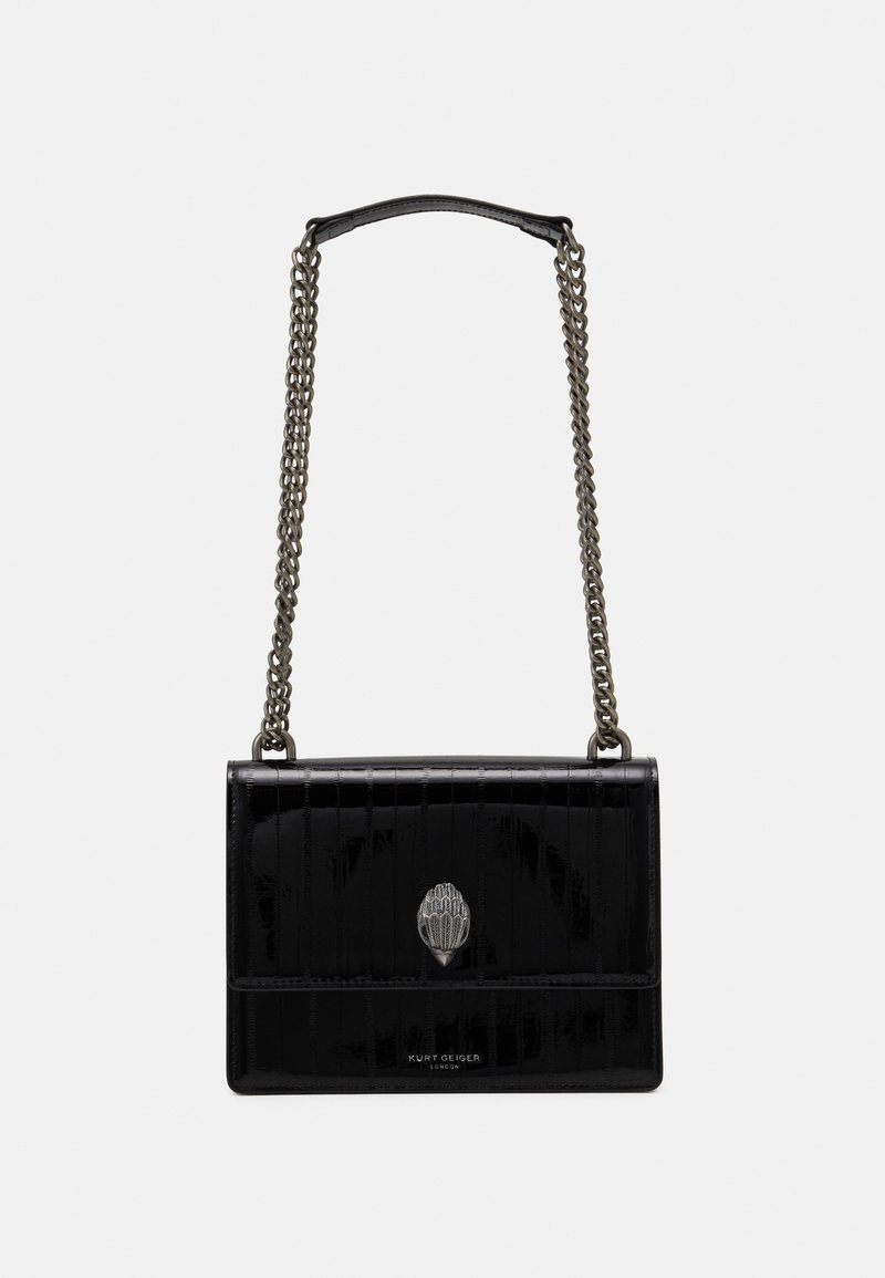 Kurt Geiger London - SHOREDITCH CROSS BODY - Across body bag - blackpatent