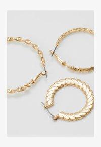Topshop - TWIST HOOP 3 PACK - Earrings - gold-coloured - 1
