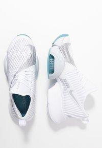 Nike Performance - AIR ZOOM SUPERREP - Sports shoes - white/metallic silver/pure platinum/cerulean - 1