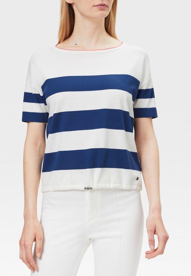 MIO - T-shirt imprimé - off-white/blau