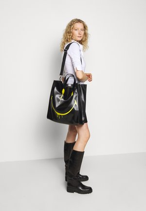 SMUDGE - Shopping Bag - black/yellow