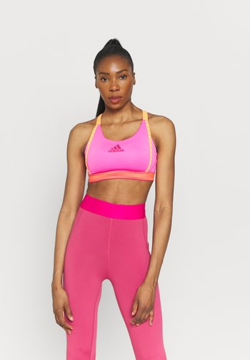 BRANDED - Sujetadores deportivos con sujeción media - screaming pink