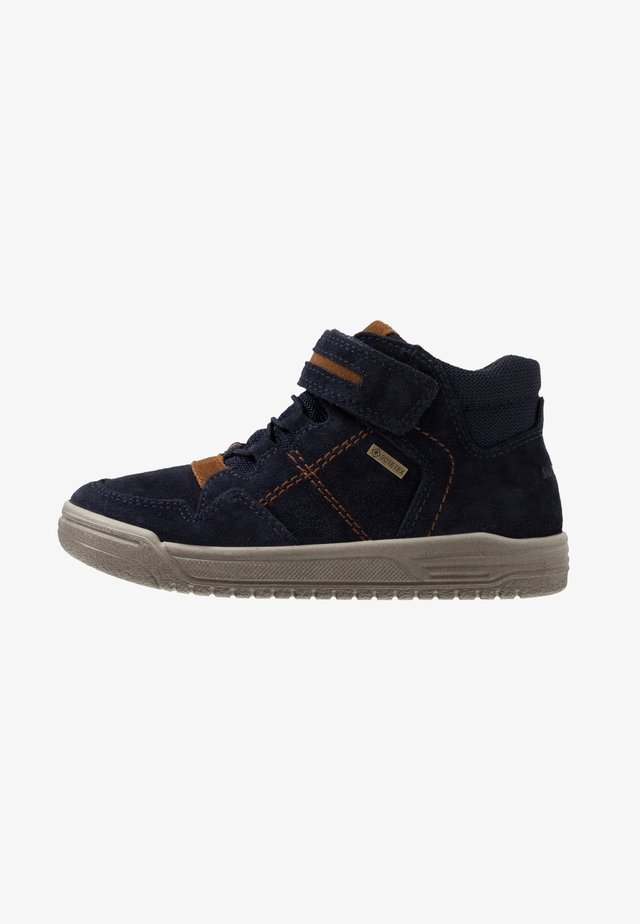EARTH - Sneakers hoog - blau/braun