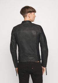 Tigha - TOMAS STONE - Leather jacket - vintage black - 2