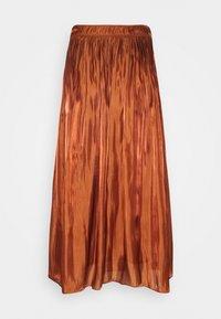 comma - A-line skirt - cognac - 1