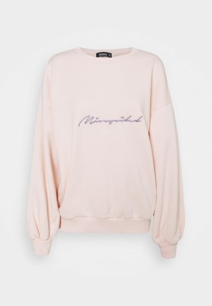 SCRIPT GRAPHIC BACK - Sweatshirt - cream