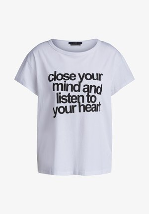 MIT STATEMENT PRINT - Print T-shirt - bright white