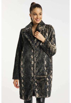 MANTEL SNAKE - Winter coat - black
