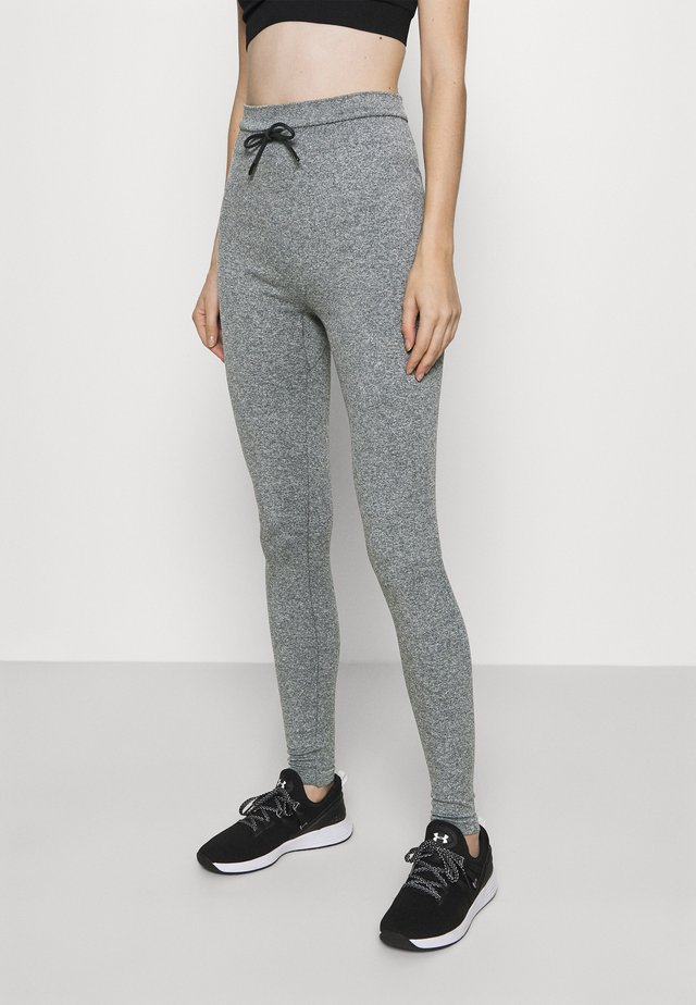 HIGH WAIST CROPPED SEAMLESS JOGGERS - Verryttelyhousut - grey marl