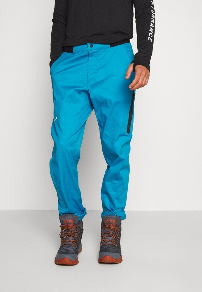 Salewa - AGNER - Spodnie materiałowe - blue danube