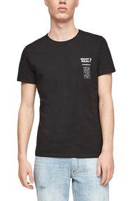 Q/S designed by - Print T-shirt - black - 5