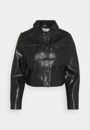 LADIES JACKET  - Faux leather jacket - black