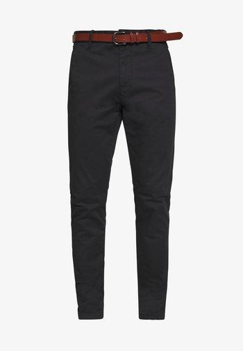 GOVER - Chino kalhoty - black