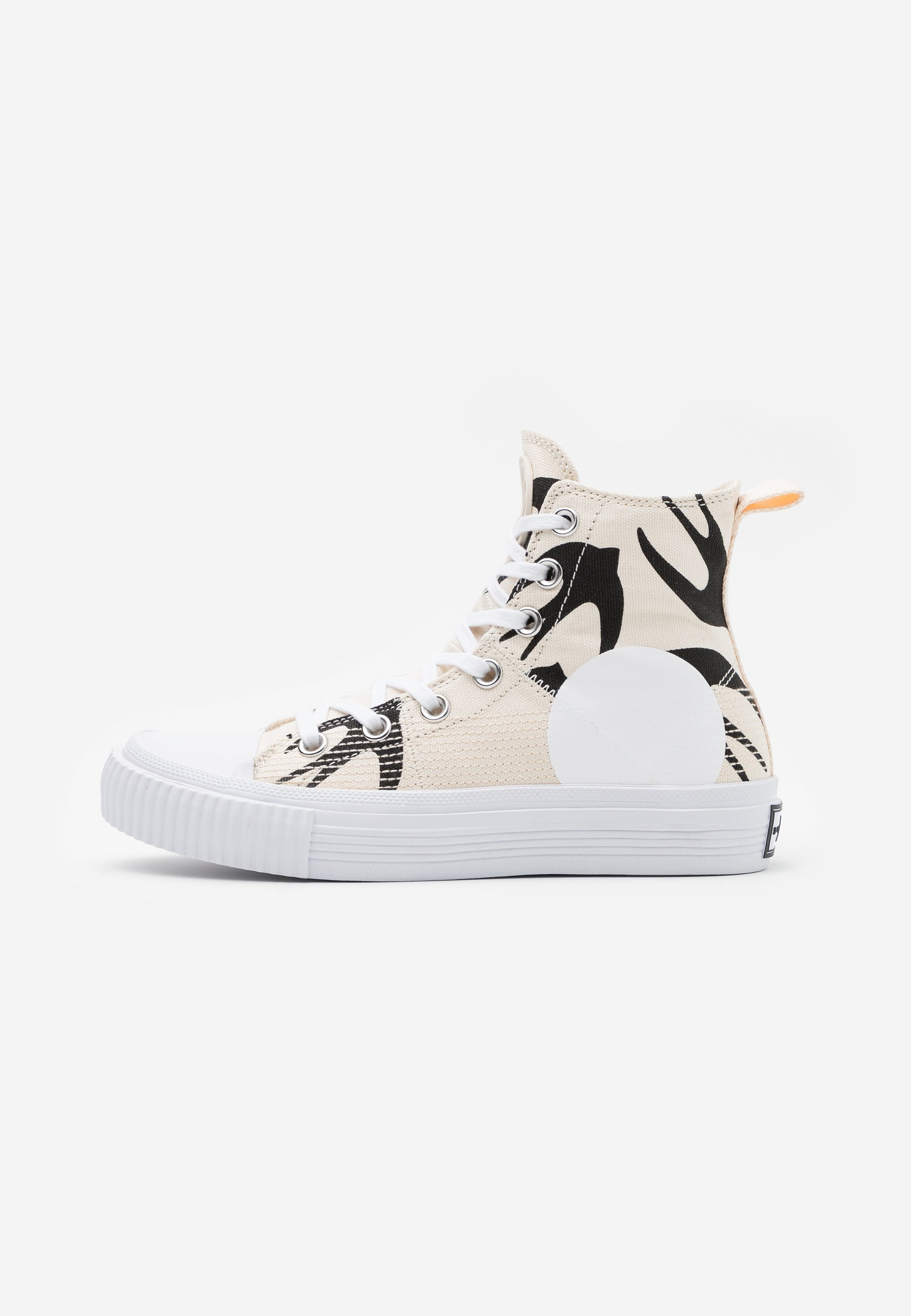 Mcq Alexander Mcqueen Swallow Hi Cut Up High Top Trainers Oyster Black Off White Zalando Ie