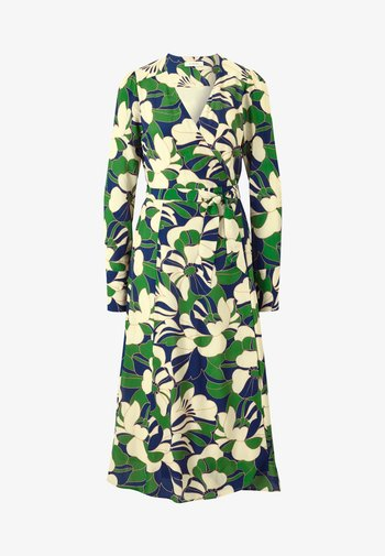 WRAP DRESS MIDI - Robe d'été - dark green