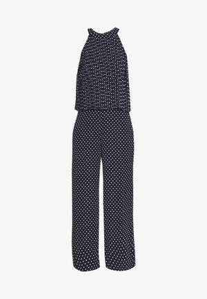 PLEATED SPOT OVERLAYER  - Jumpsuit - ink