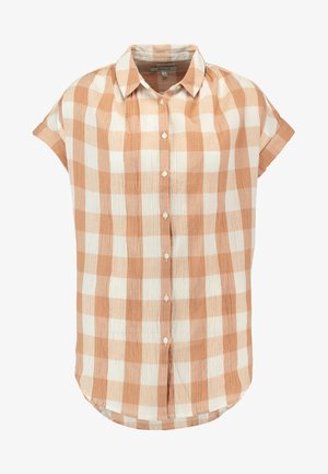 CENTRAL TUNIC - Button-down blouse - bethany earthen sand