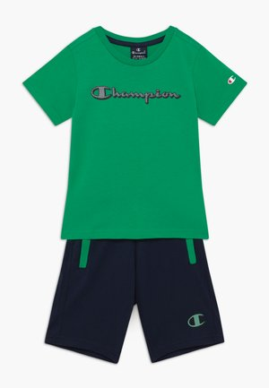 LEGACY GRAPHIC SHOP SET UNISEX - Pantalón corto de deporte - green/dark blue