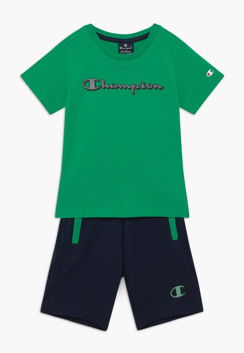 Champion - LEGACY GRAPHIC SHOP SET UNISEX - Pantalón corto de deporte - green/dark blue