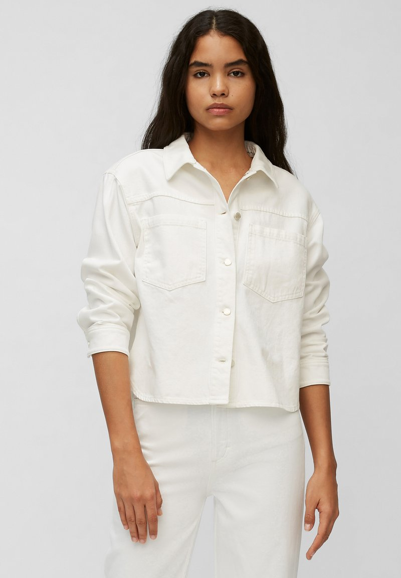 Marc O'Polo DENIM - Denim jacket - multi/bright white