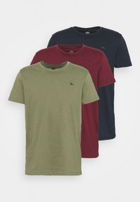 Petrol Industries - SPECIAL 3 PACK - Basic T-shirt - army/burgundy/navy - 6
