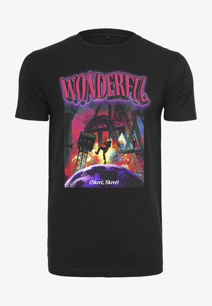 WONDERFUL TEE - Print T-shirt - black