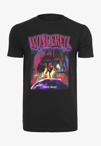 WONDERFUL TEE - Print T-shirt - black