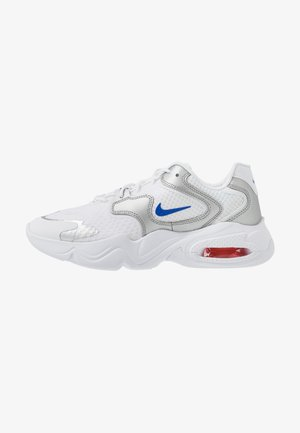 AIR MAX 2X - Sneakers laag - white/racer blue/metallic silver/bright crimson/flash crimson
