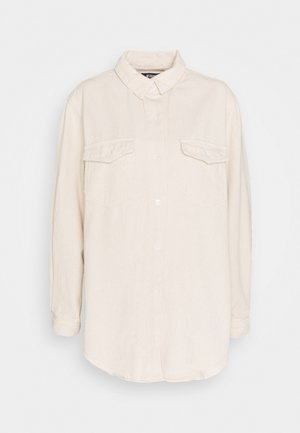 SUPER OVERSIZED BOYFRIEND SHIRT - Button-down blouse - sand