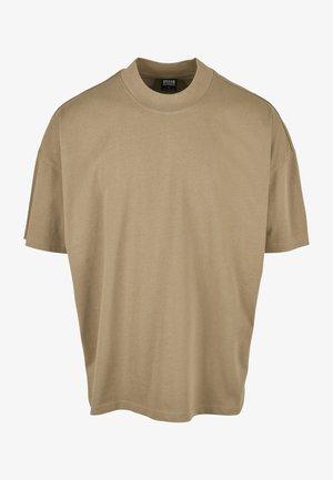 OVERSIZED MOCK NECK - T-shirt basic - khaki
