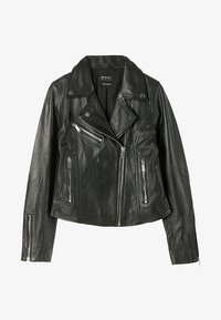 Stradivarius - Leather jacket - black - 4