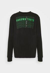 FRONT AND BACK GRAPHIC LONG SLEEVE TEE UNISEX - Långärmad tröja - black