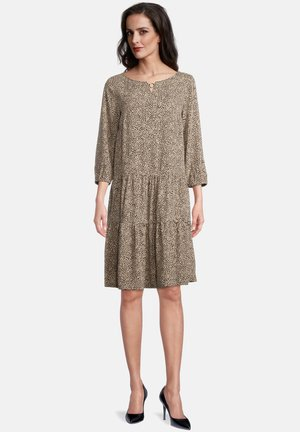 MIT 3/4 ARM - Day dress - black/camel