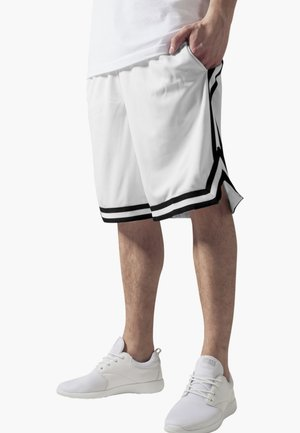 STRIPES - Tracksuit bottoms - white, black