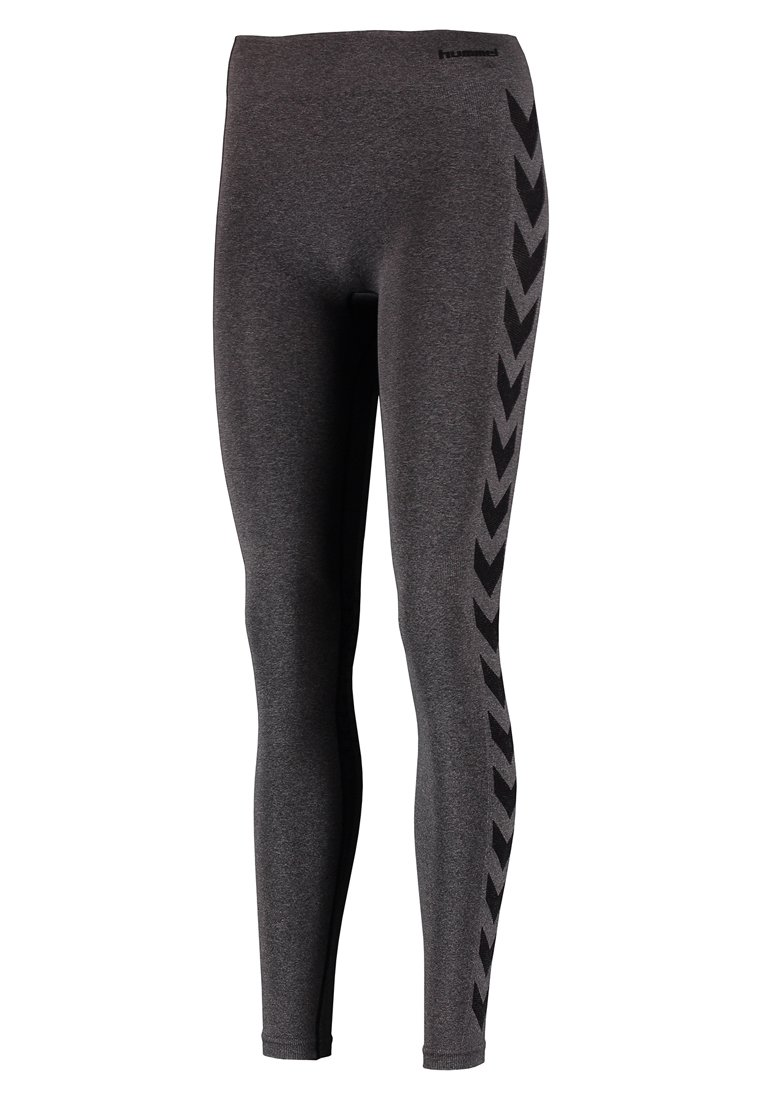 Hummel CLASSIC BEE CI SEAMLESS - Leggings - black melange AKJSb