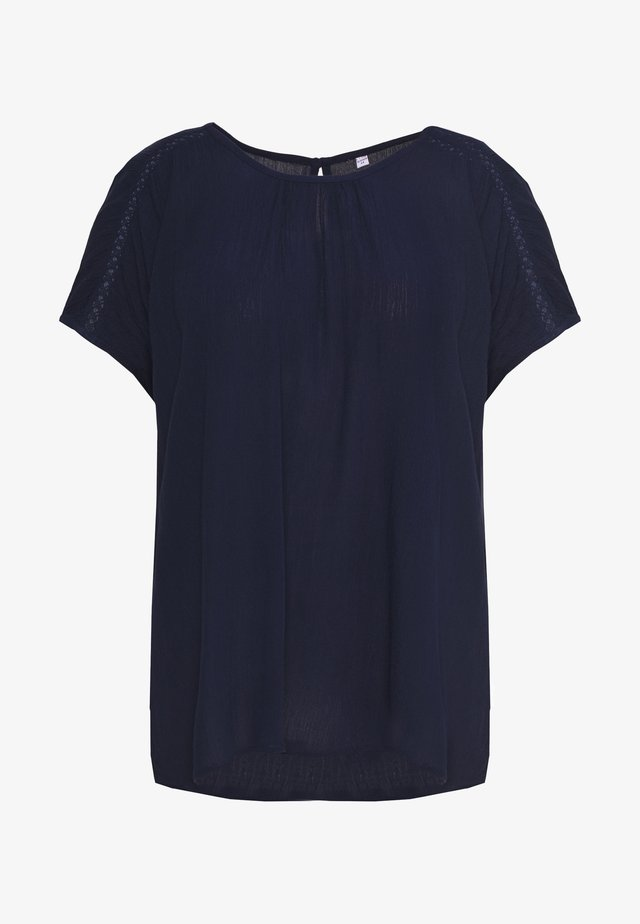 BLOUSE WITH DETAIL - Blus - navy