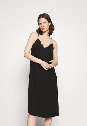 SLIP DRESS - Robe d'été - black
