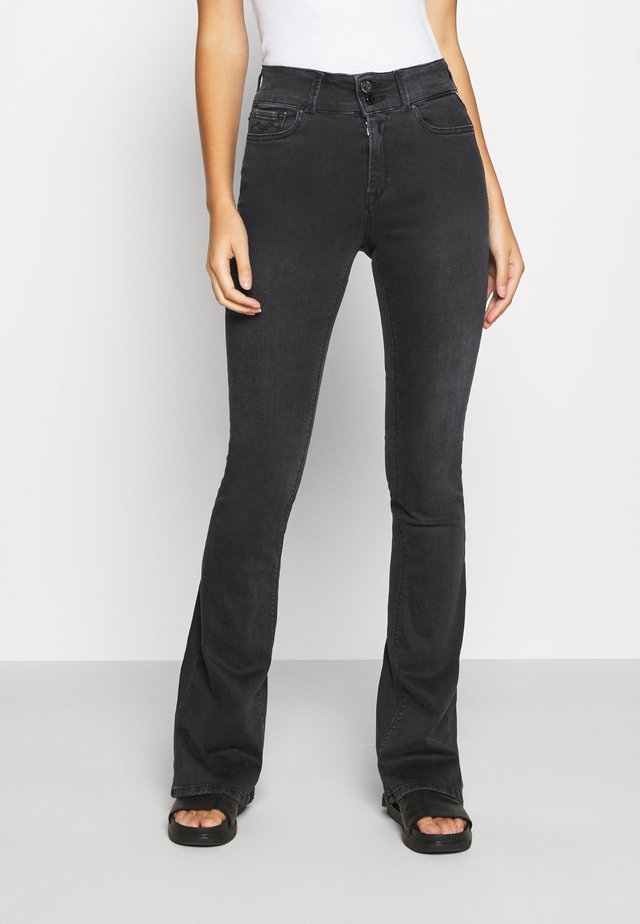 NEWLUZ - Flared Jeans - dark grey