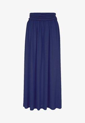 LUXURY - Maxi skirt - inky navy