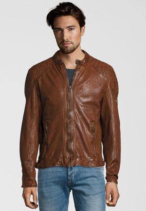 GARREN  - Leather jacket - cognac