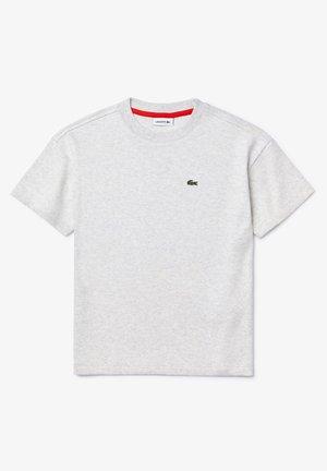 LACOSTE - TEE-SHIRT ENFANT-TJ4877 - Print T-shirt - gris chine / rouge
