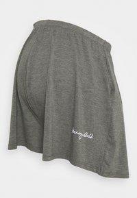 Missguided Maternity - SCRIPT NIGHTWEAR SHORTS SET - Pyjama bottoms - grey - 2