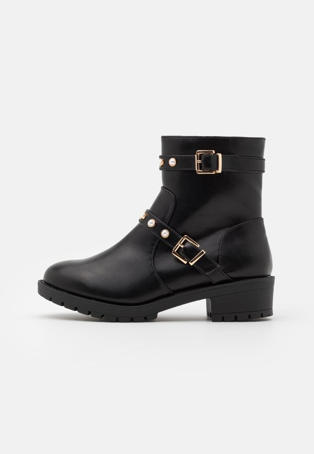 BIAPEARL FASHION BOOT WIDE FIT  - Støvletter - black