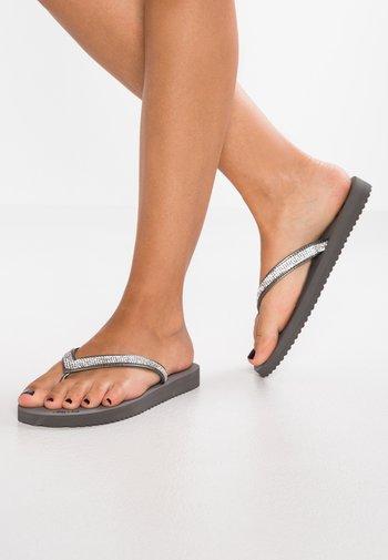GLAM  - T-bar sandals - steel