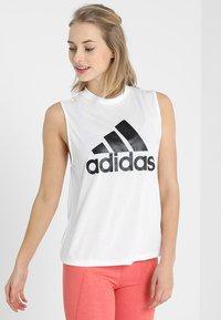 adidas Performance - MUST HAVES SPORT REGULAR FIT TANK TOP - Koszulka sportowa - white/black - 0
