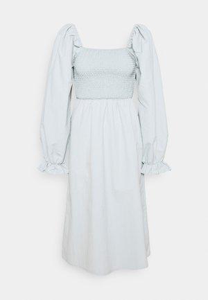SHIRRED MILKMAID PUFF SLEEVE DRESS - Maxi dress - baby blue