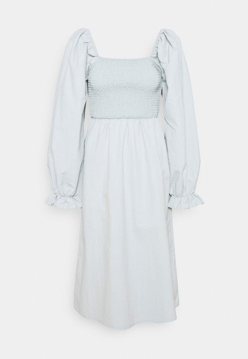 Missguided - SHIRRED MILKMAID PUFF SLEEVE DRESS - Maxi dress - baby blue