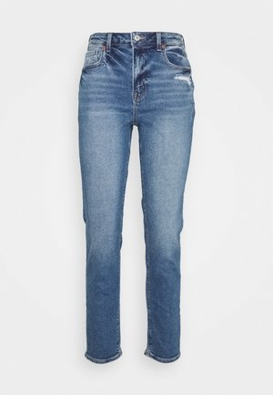 MOM JEAN - Slim fit jeans - medium bright indigo