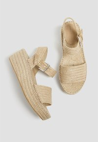 PULL&BEAR - Wedge sandals - sand - 1