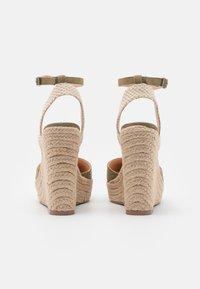 Even&Odd - Platform sandals - khaki - 3